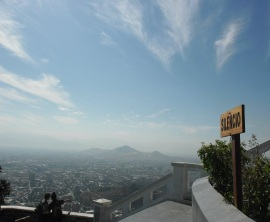 Cerro San Christóbal in Santiago, Chile