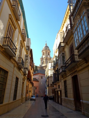 View of Málaga Cathedral from an adjoining street