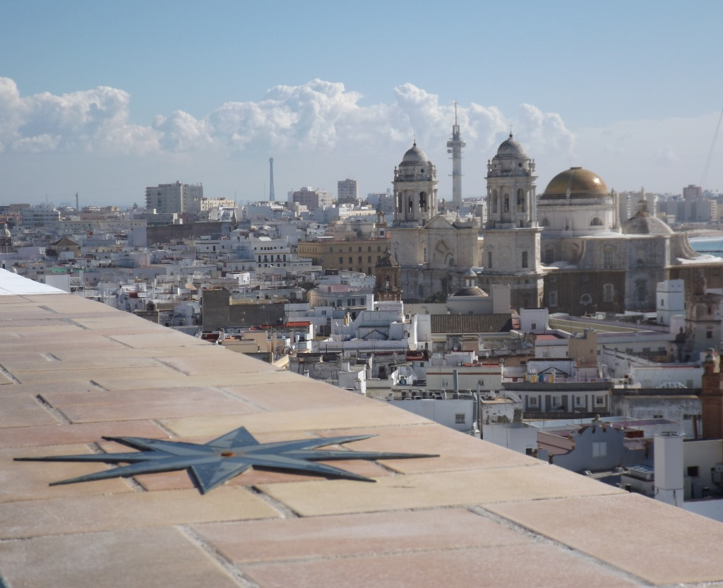 View of Cádiz cathedral from Torre Tavira