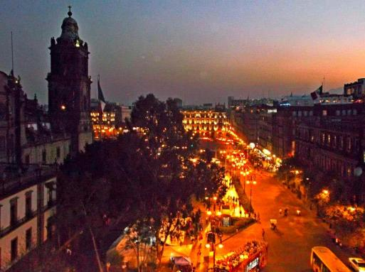 View of the Zócalo, Mexico City