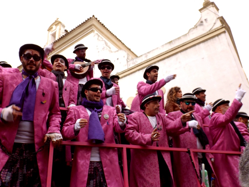 Singing group at Cádiz carnival