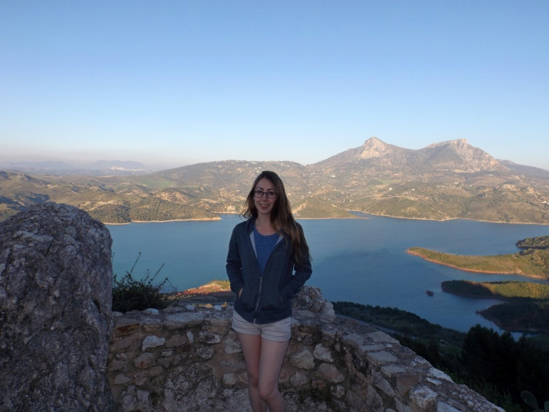 Me in Zahara with a view of the reservoir