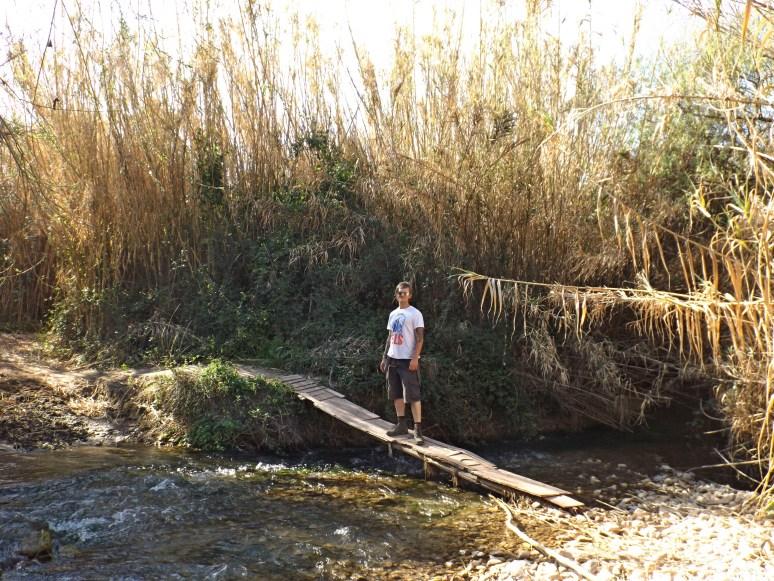 Phil by the river on the walk towards Zahara