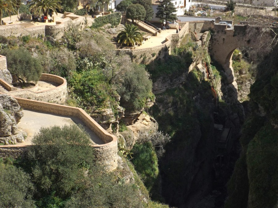 Gardens above the gorge