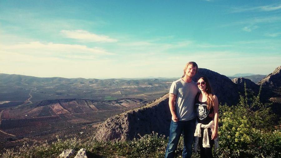 Phil and I near the Virgen de Gracia above Archidona