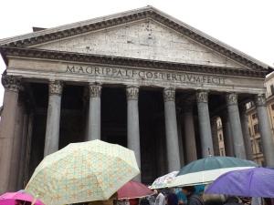 The Pantheon + Umbrellas