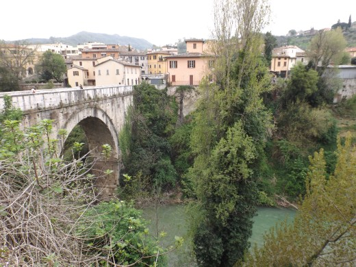 Bridge and river in Ascoli Piceno