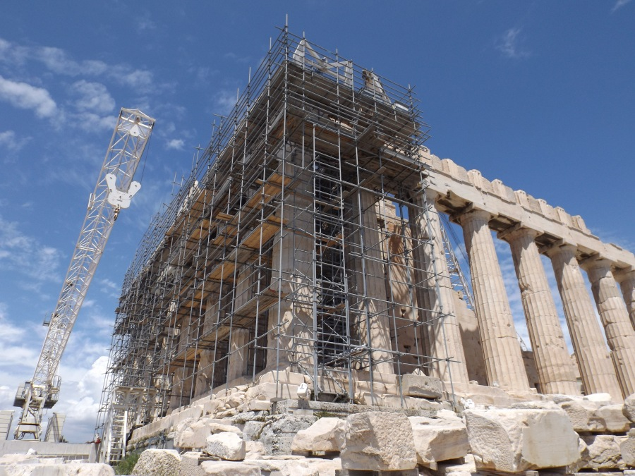 Restoration works on the Parthenon