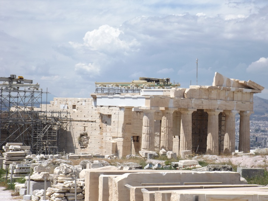 Restoration works on the Propylaia