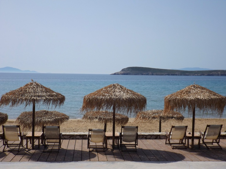 Golden Beach in Southern Paros
