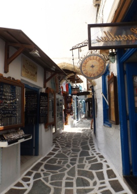 Shops in the Old Market of Naxos