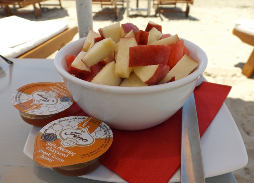 Delicious Greek Honey with Delicious Greek Fruit!