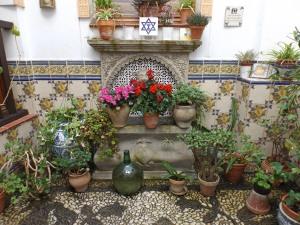 Courtyard in the Centro de la Memoria Sefardí