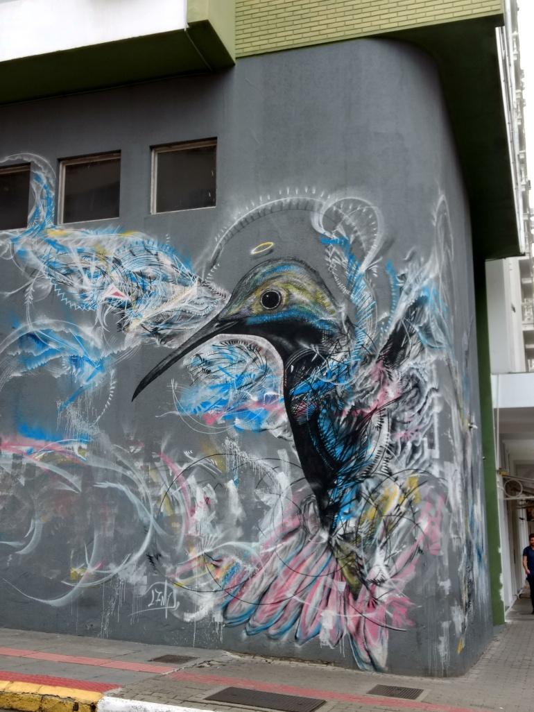 Beautiful Street Art in the Centre of Floripa