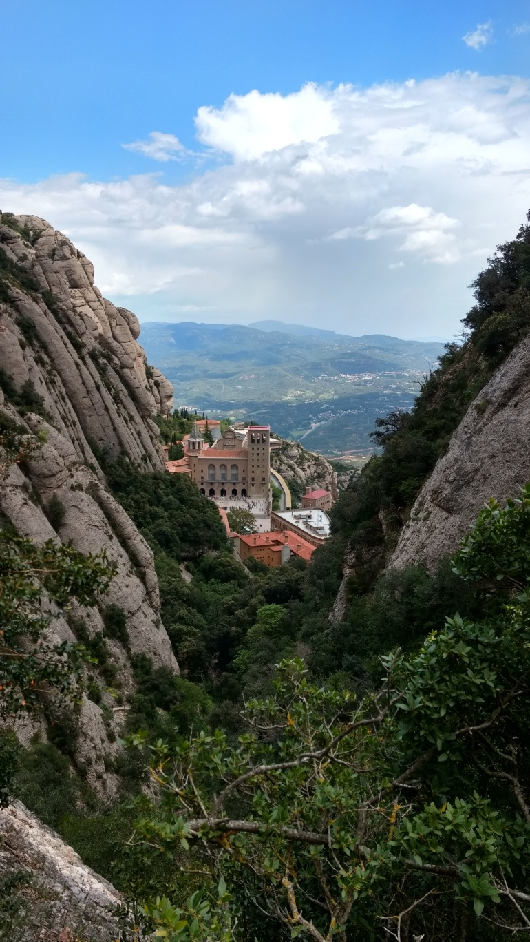 View of Montserrat monastery from one of the hikes