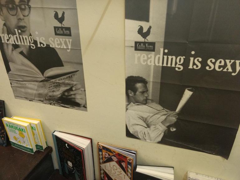 Posters in La Central bookstore
